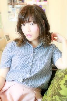 ☆鎖骨ミディ×横波ウェーブでセミウェットに☆|hair salon Reginaのヘアスタイル