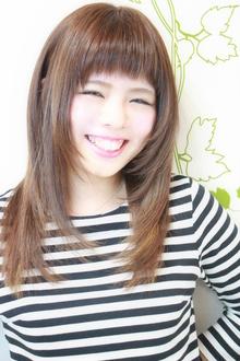 ☆ゆるナチュセミディなイノセントストレート☆|hair salon Reginaのヘアスタイル