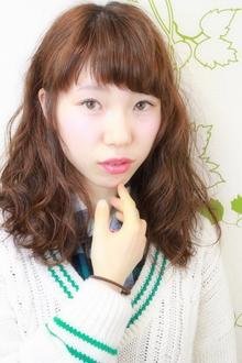 ☆甘めバング×ナチュラルセミディ×ゆるカール☆|hair salon Reginaのヘアスタイル