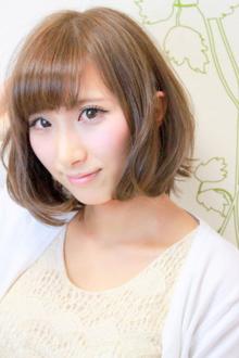 ☆ピュア感溢れる甘めバングのラウンドボブ☆|hair salon Reginaのヘアスタイル