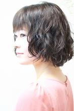 軽めバングのうぇーびーぼぶ。|hair salon Regina 山下 真也のヘアスタイル