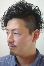 ツーブロック+パーマ+グリース=ワイルド|hair salon Regina 山下 真也のメンズヘアスタイル