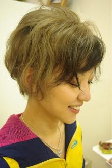ショートウルフでホワイティアッシュに♪|hair salon Reginaのヘアスタイル