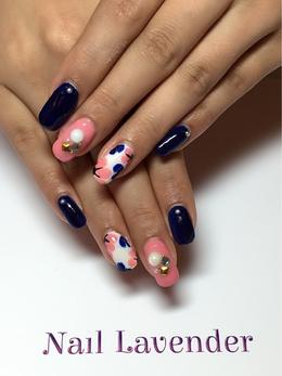【上品花アート】|Nail Lavenderのネイル