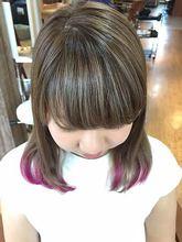 ポイントアクセント!シルキーアッシュグラデーション|Growのヘアスタイル