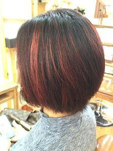 ピンクレッド・ハイライトグラデーションカラー☆|Growのヘアスタイル
