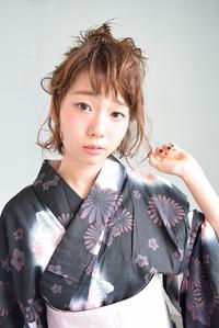 【浴衣アレンジ】ざっくりお団子