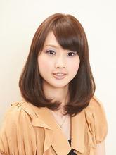 ミディアムロングワンカール|Hair×Cafe KUMAのヘアスタイル