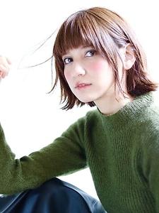 オシャレ感アップ!外ハネセミウェットボブ☆ Lovllのヘアスタイル