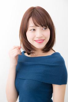 メルティーオレンジボブ|hair make passage 相模大野店のヘアスタイル