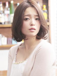 センターパート+柔らかウェーブが織りなすモテカワロブ☆|hair make passage 相模大野店のヘアスタイル
