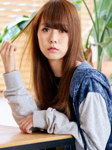 重めバング×サラツヤ内巻きロングレイヤー☆|hair make passage 相模大野店のヘアスタイル