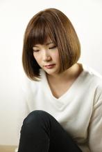 ボブ/ワンレン/ストレート/内巻き/|Grand × AtlierDonguriのヘアスタイル