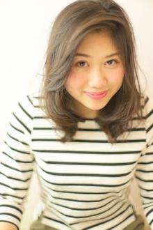 ミディアム/パーマ/スプリング/ふんわり/アップバング|Grand × AtlierDonguriのヘアスタイル