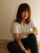 ゆるめワンカール/ミディアム/ベージュ/さわやか/|Grand × AtlierDonguriのヘアスタイル
