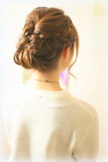 編み込みヘアアレンジ|Grand × AtlierDonguriのヘアスタイル