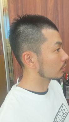 夏ボウズ 素敵なおひげバージョン|Grand × AtlierDonguriのヘアスタイル