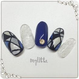 ステンドグラスネイル|Salon Mylitta -Nail-のネイル
