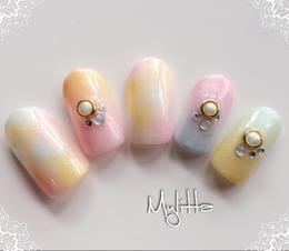 春のパステルカラーネイル|Salon Mylitta -Nail-のネイル