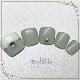 バイカラーネイル|Salon Mylitta -Nail-のネイル