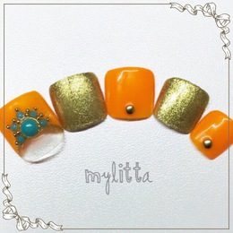 大人エスニックネイル!|Salon Mylitta -Nail-のネイル