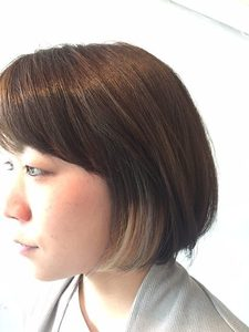 bob*inner color|+muutosのヘアスタイル
