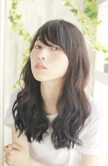 ヘルシーな黒髪ゆるウェーブ|ZU-LU 新城店のヘアスタイル