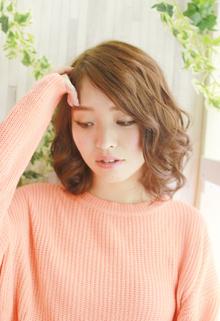 ミックスカールのモテ髪スタイル|ZU-LU 新城店のヘアスタイル