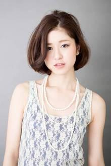 大人の耳かけシンプルボブ|ZU-LU 稲田堤店のヘアスタイル