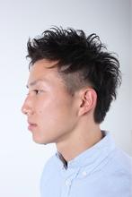 ショート&2ブロック|ZU-LU 稲田堤店のメンズヘアスタイル