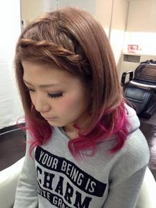 木苺ピンクのグラデーション|GROSS 心斎橋のヘアスタイル