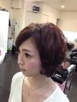 ショートでも可愛く☆ヘアセット|GROSS 心斎橋のヘアスタイル