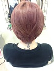 ピンクベージュのあゆ風ショート☆|GROSS 心斎橋のヘアスタイル