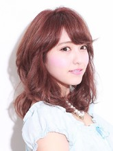 斜めバング ボルドーカラー|hair salon JOJOのヘアスタイル