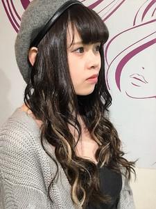 アッシュカラー3Dカラーメッシュシールエクステ hair salon JOJOのヘアスタイル