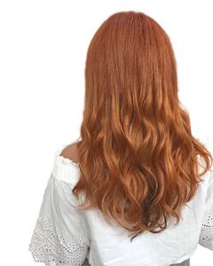秋色ボルドーイルミナフェザーロング|hair salon JOJOのヘアスタイル