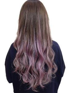 イルミナボルドーグラデーションフェザーロング|hair salon JOJOのヘアスタイル