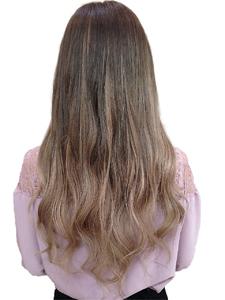 グラデーション風シールエクステ80枚ボルドー hair salon JOJOのヘアスタイル