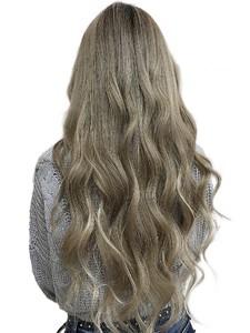 外国人風シールエクステ80枚フェザーロング hair salon JOJOのヘアスタイル