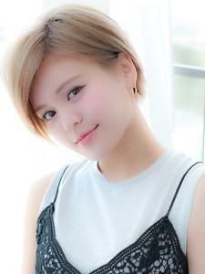 モードミニマムボブ ミルクティーカラーショート☆|hair salon JOJOのヘアスタイル