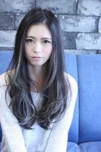 ☆外国人風暗髪ハイライトロング☆