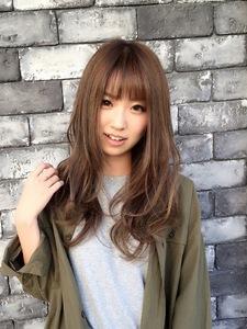 ☆ハイライト×シースルーバング×ゆるふわロング☆|LAVIERE by R-EVOLUTのヘアスタイル