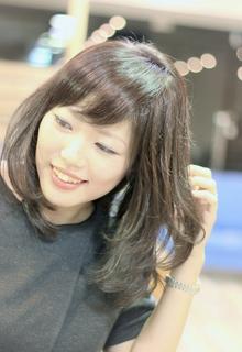 ☆大人かわいい愛されシースルーバングひし形ロブ☆|LAVIERE by R-EVOLUTのヘアスタイル