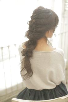 後れ毛たっぷり♪やんわり下ろし編み|flare -心-のヘアスタイル