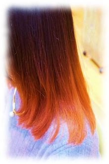 ピンク グラデーション flare -心-のヘアスタイル