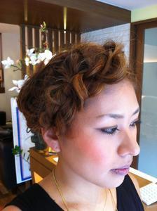 パーティーヘアセット fleurのヘアスタイル
