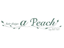 Hair design a peach by NYNY  | ヘア デザイン ピーチ バイ ニューヨークニューヨーク  のロゴ