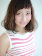 斜めショートバング×ボブ|Hair design a peach by NYNYのヘアスタイル