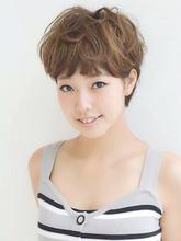 ふんわりパーマ☆ショートスタイル|Hair design a peach by NYNYのヘアスタイル
