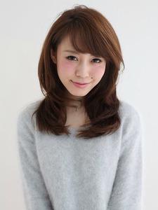愛されフェミニンカール|Hair design a peach by NYNYのヘアスタイル